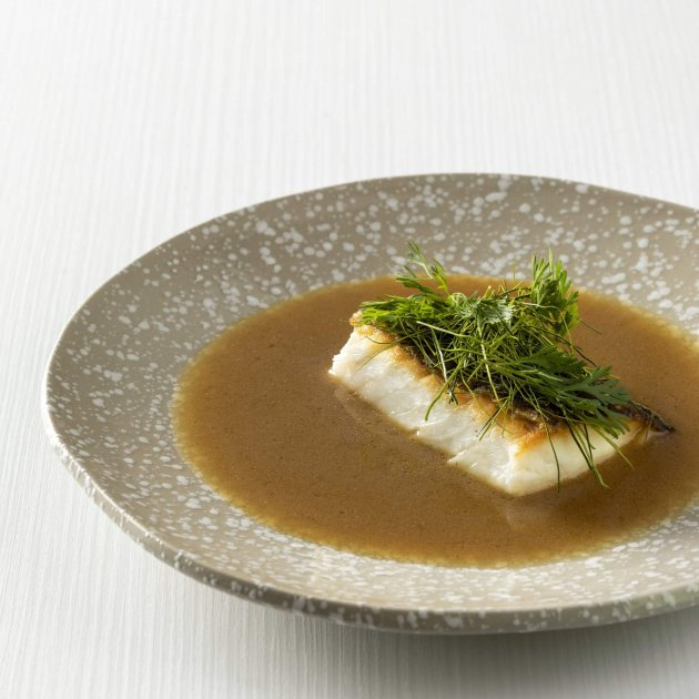 Murray cod fillet with soy, roasted sesame oil, Chinese wine & rich stock.